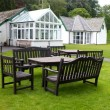 Glenthorne gardens, seating area with Garden Room and Meeting Room in the background thumbnail