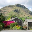 Glenthorne entrance and car parking area with Helm Crag beyond thumbnail
