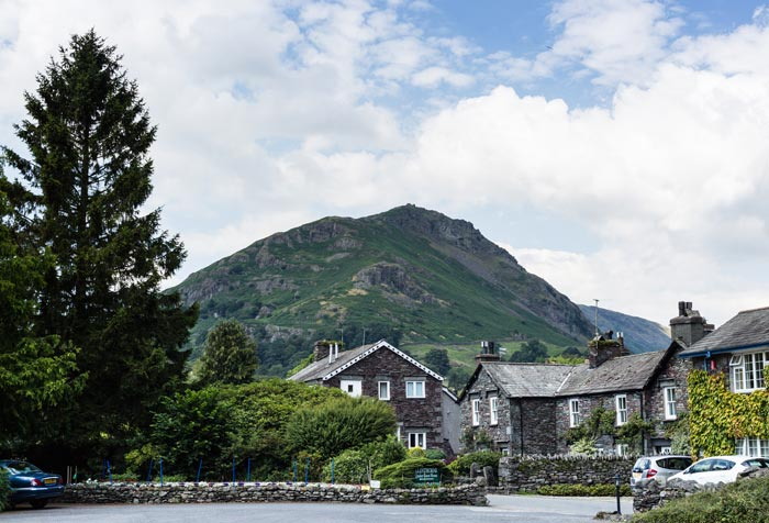 Main entrance with view of Helm Crag